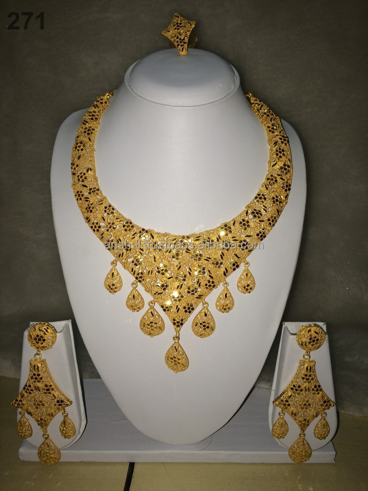 2 Gram Gold Plated Jewelry Set - Buy 2 Gram Gold Plated Jewellery ...