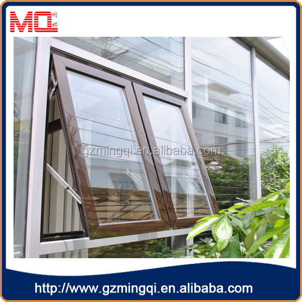 Factory price aluminum tempered glass casement window