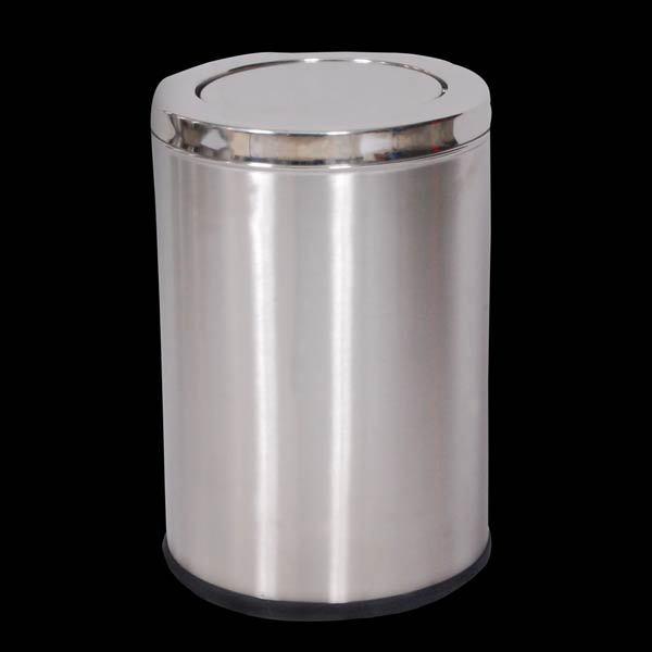 Elegant Stainless Steel Dust Bin/bathroom Tissue Waste Barrel/street Trash Can