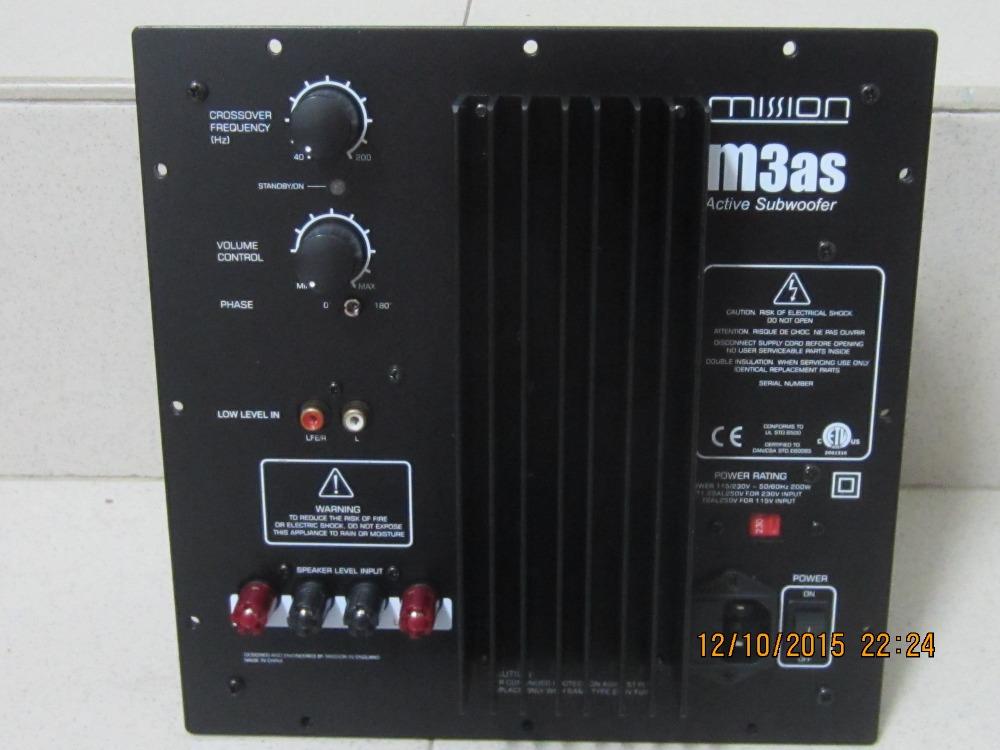 Mission M3as Active Subwoofer