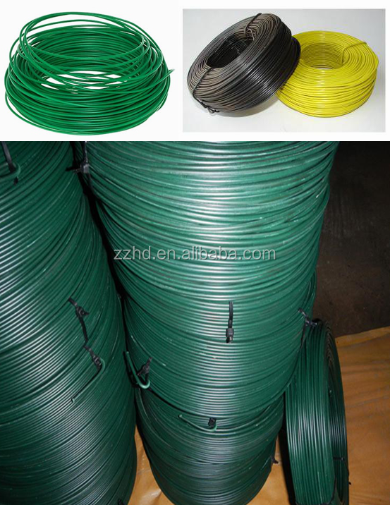 Electro Galvanized Thin Black Iron Wire Pvc Coated Binding Wires ...