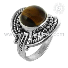 Eye-catching Tiger Eye Silver 925 Ring Handmade Silver Jewelry Wholesaler Silver Jewelry