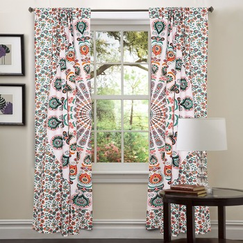 curtains window boho style treatments hippie diy boutique drapes tapestry mandala blackout tapestries chic