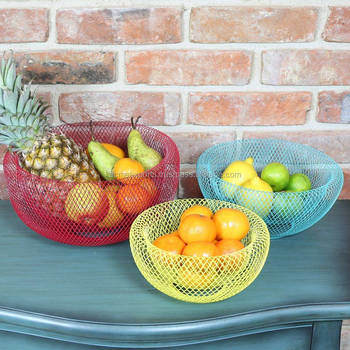 Metal Fruits Baskets | Decorative Fruits Baskets | Table Table Handmade Fruit Basket