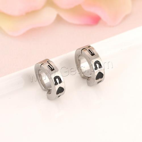 Stainless Steel Hoop Earring different styles for choice enamel original unplated color custom earring