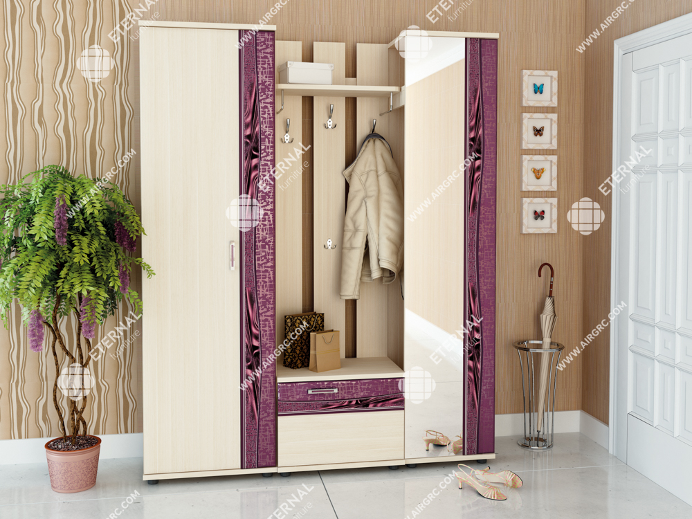 """Margaret 03"" Wardrobe and furniture set for hallway - Eternal furniture"