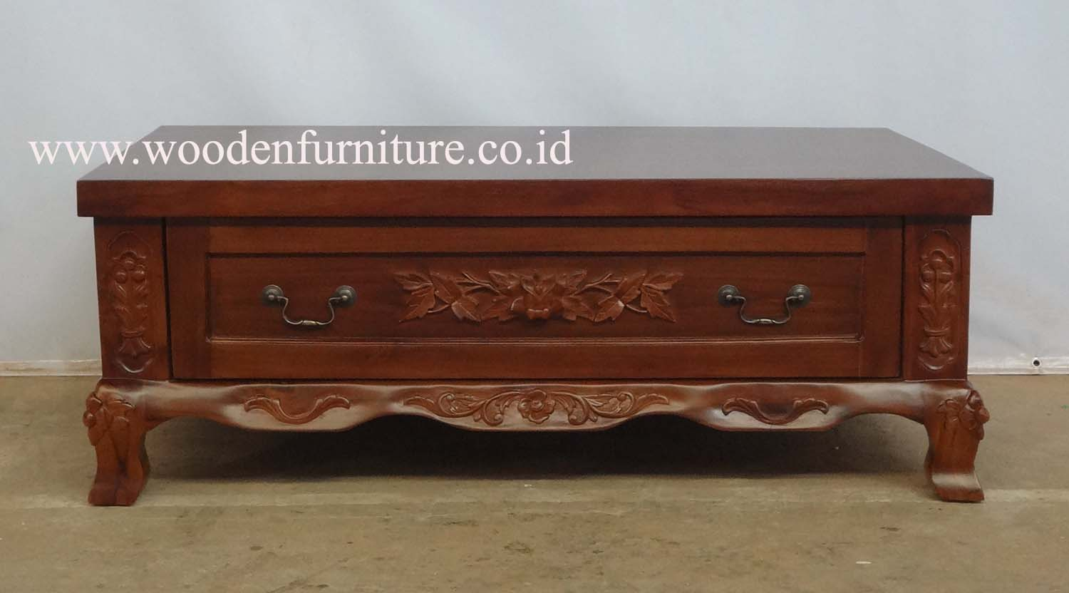 Classic Living Room Furniture Teak Carved Coffee Table Antique