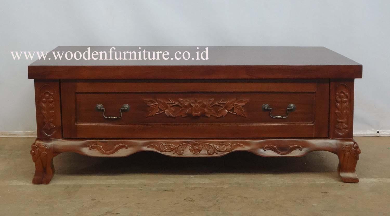 Klassieke woonkamer meubels teak gesneden salontafel antieke ...