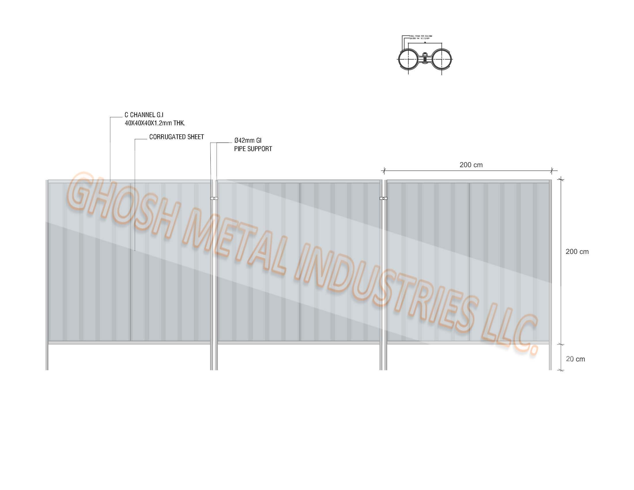 Temporary side hoarding corrugated fencing panels manufacturer in temporary side hoarding corrugated fencing panels manufacturer in uae dubai abu dhabi ajman baanklon Image collections