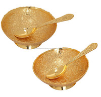Popular gift set online / brass two bowl set online / Navratri Gift set