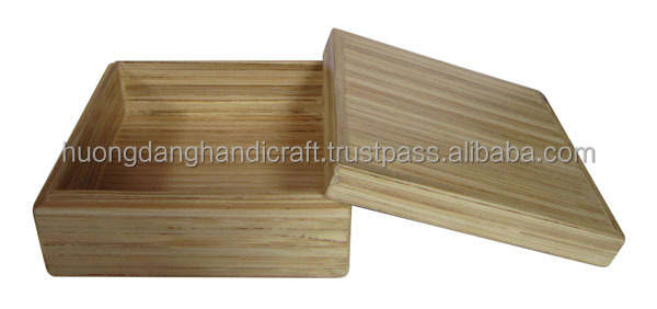 Bamboo Craft Box With Lid Special Design Best Price Buy Small