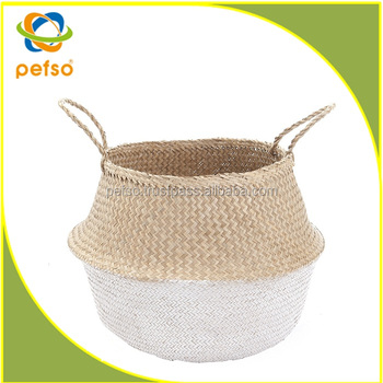 Hot Sell Foldable Seagrass Basket Seagrass Belly Basket