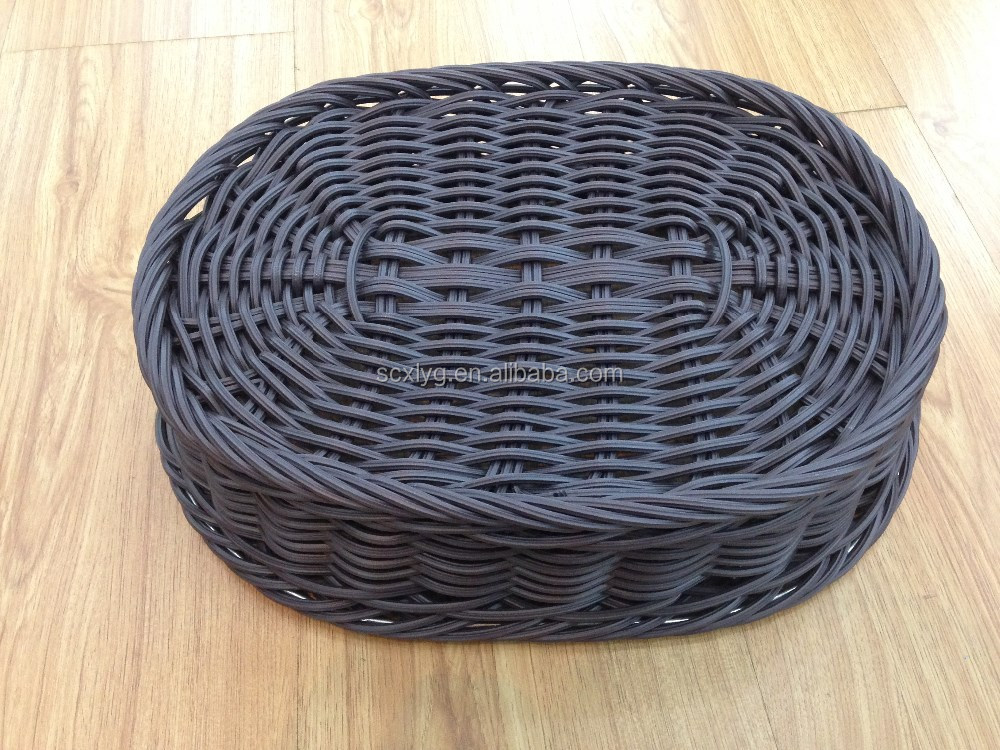 Woven Basket Procedure : Fruit and vegetable use new washable oval brown poly pp