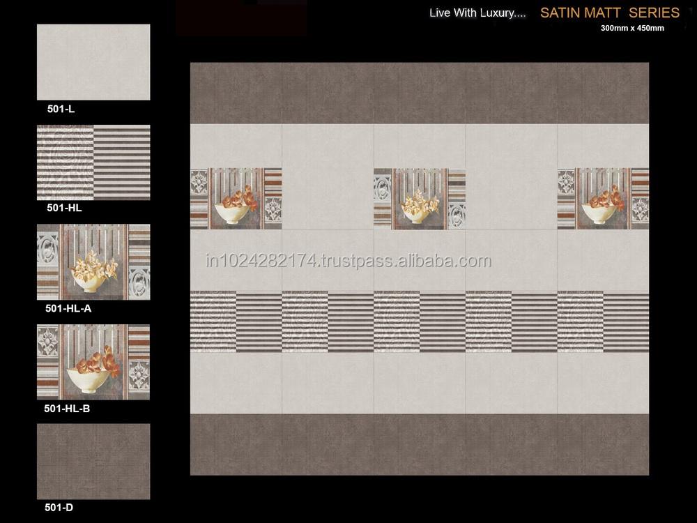 Digital Ceramic Wall Tiles For Kitchen Bathroom Elevation Living Room Etc 501