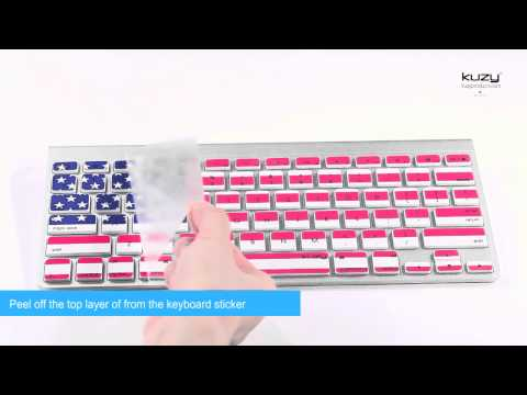 Kuzy - Keyboard Stickers/Skins for MacBook and Apple Wireless Keyboard - Easy Installation Proccess