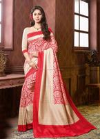Printed Beige daily wear sarees - Surat saree wholesale - Buy party wear saree online - Saree blouse pattern - Indian sari 4dfg