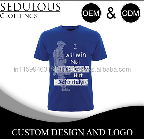 100% cotton Custom Printing Men's T shirt