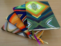 custom handmade fabric covered notebook