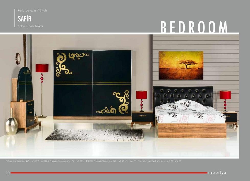 사피르 블랙 2016 새로운 패션 높은 품질의 현대 침실 세트--상품 ...