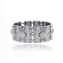 Pave Diamond Fashion Slave Bracelet Jewelry