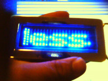 Scrolling LED Belt Buckle