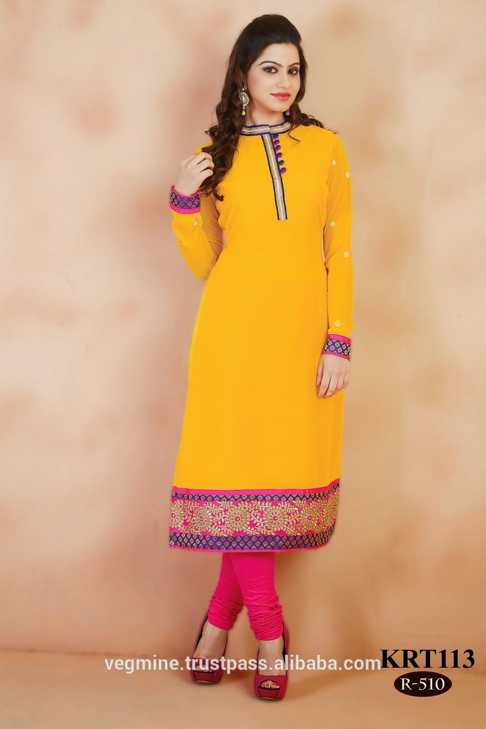 Stand Collar Designs For Kurti : Collar neck designs kurtis indian kurtis wholesale buy