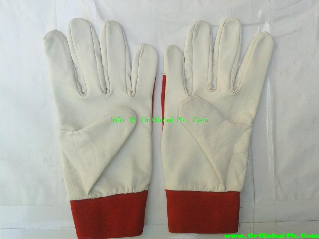 Goatskin leather work gloves - Goat Skin Leather Working Gloves Ce En 388 En 420 3111