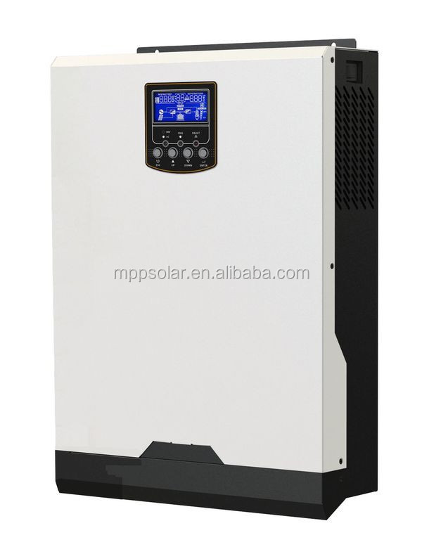mppt solar inverter 3kva 2400w 24v + 60A MPPT solar charger + battery charger 60A