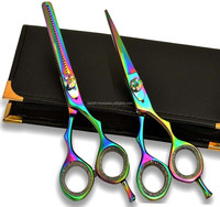 Professional Hair Cutting & Thinning Scissors Barber Shears Hairdressing Set
