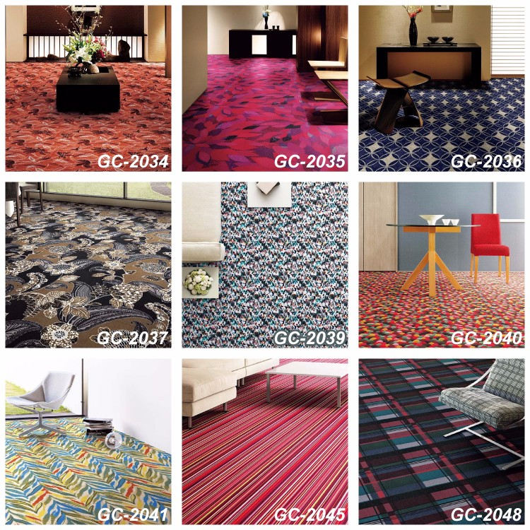 50 x 50 and Fire-Retardant Carpet for hotel Japan Carpet Tile , Samples also available