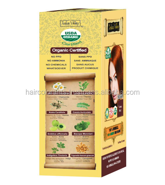 hair color with herbal aroma