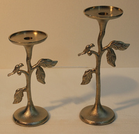 metal christmas tree long-stemmed metal candle holder