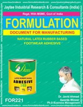 formula document for making NATURAL LATEX RUBBER BASED FOOTWEAR ADHESIVE