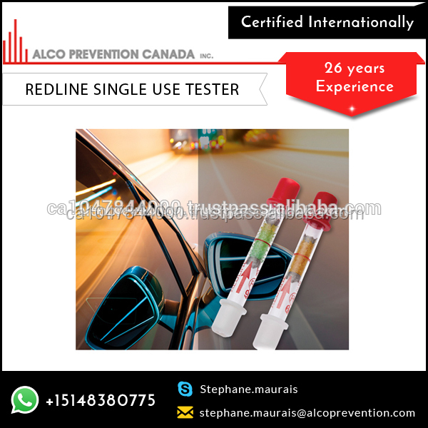 Redline Disposable Breathalyzer Help Guide The User Regarding Their Assessment Of Their Ability To Drive Within The Law