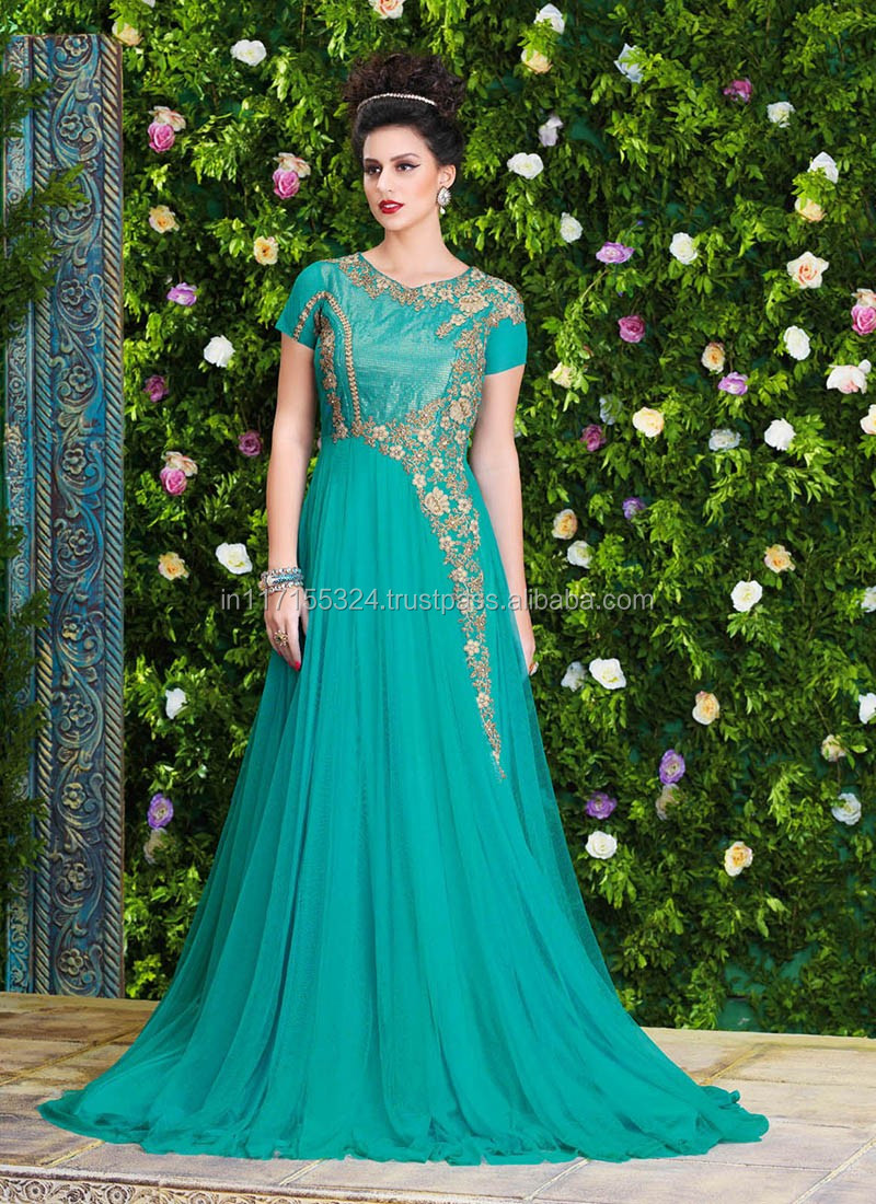 2016 Latest Wedding Gown Designs 2016 Indian Fancy Evening Gown ...