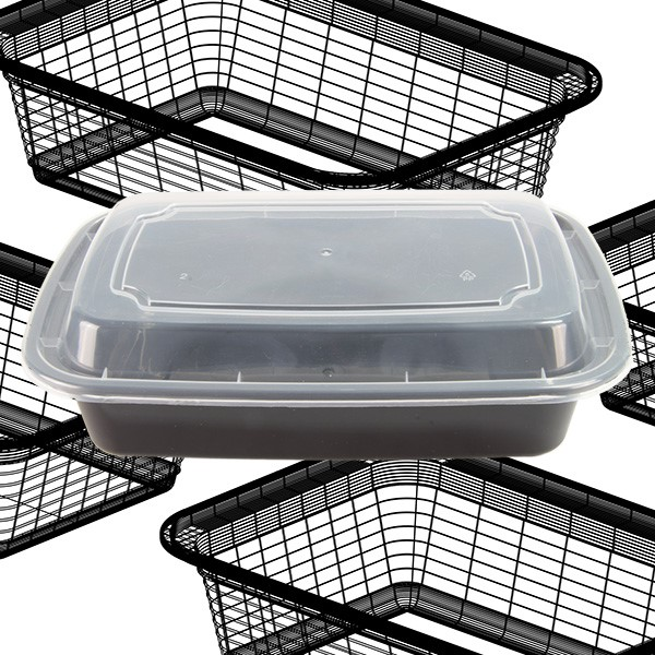 Eco Friendly 32oz Retangular Disposable Plastic Food Grade Bento Box