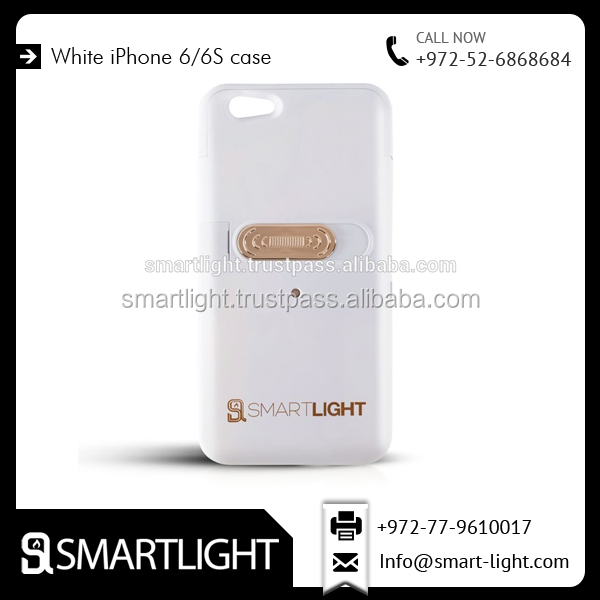 Flameless Cigarette Lighter Case for iPhone 6/6s Available in Clear White Colour