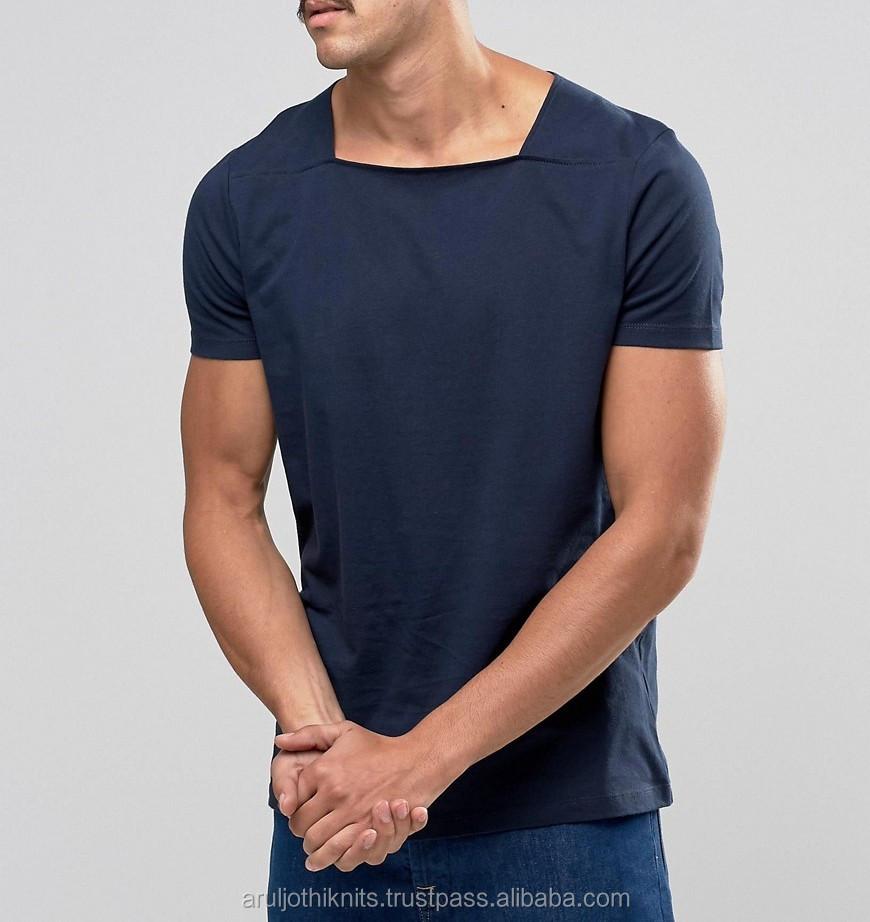 Mens Square Neck T Shirt