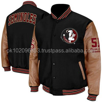 Letterman Jacket With Leather Sleeves Baseball Jackets Available ...