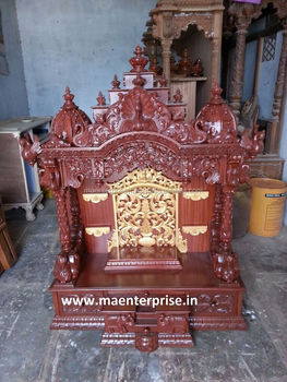 Indian Wooden Temple Design For Home Pooja Mandir