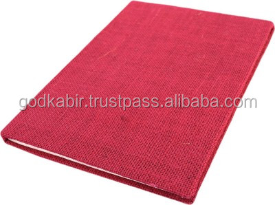 Beautiful pink color Handmade Diary-Jute Fabric Cover-Pasted Binding Size 25x18x1.3 Cm handmade paper notebook