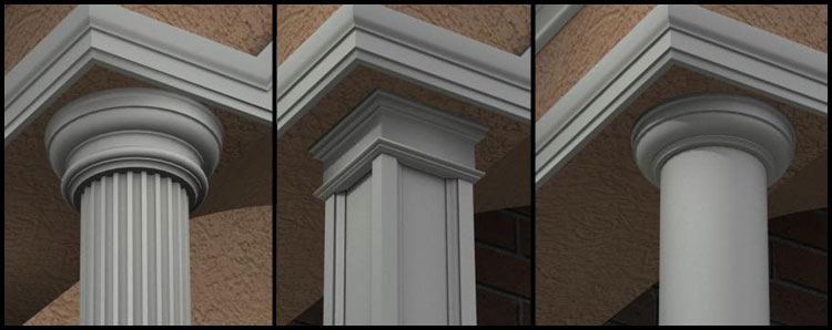 Poliestireno columnas decorativas con pol mero for Articulos decorativos para casa
