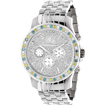 Welp Luxurman Horloges Heren Kleur Diamant Horloge 2.50ct - Buy Diamant KP-08