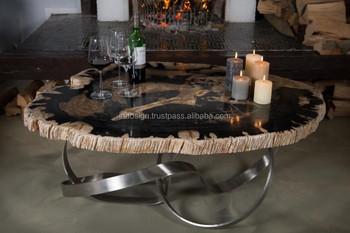 Tafel Versteend Hout : Unieke designer salontafel van versteend hout buy versteend hout