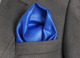 Blue Custom Pocket Square, Manufacturing Hankercheif,