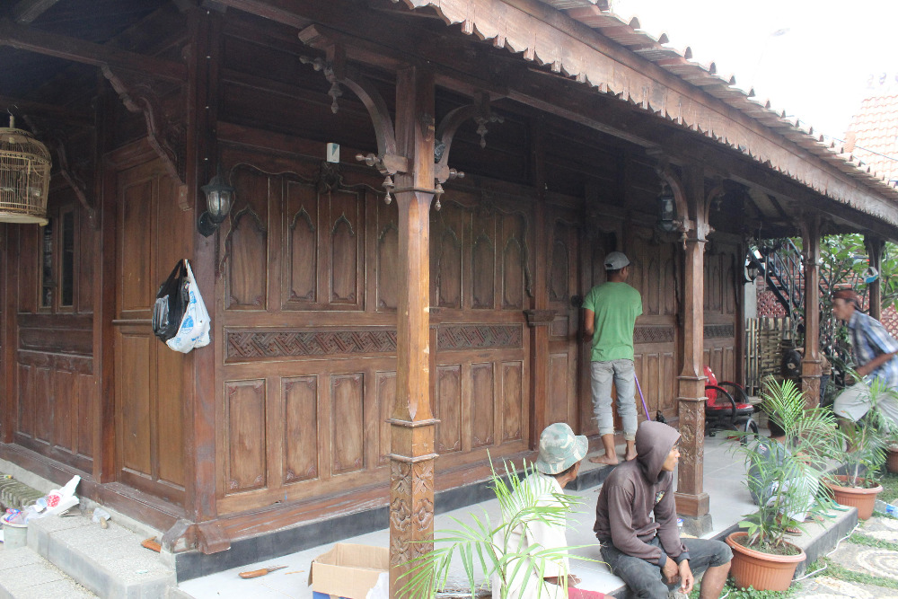 Javanese style wooden house