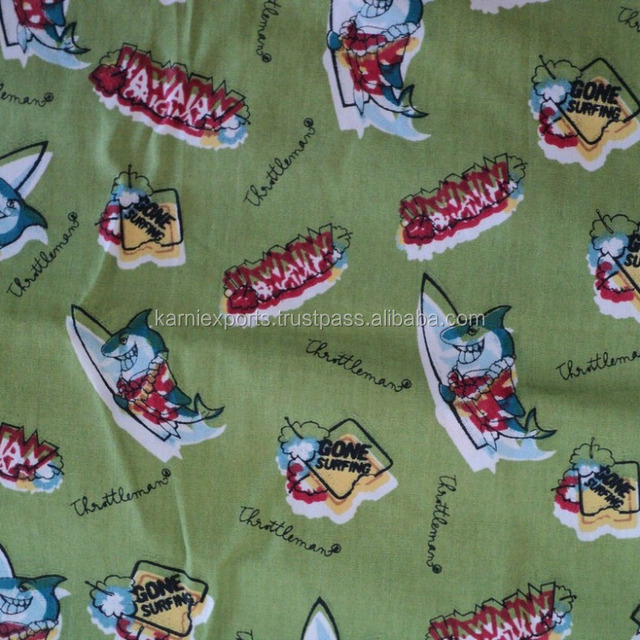 Light Green Color Screen Printed Bed Sheets U0026amp; Custion Cover Fabric /  100%