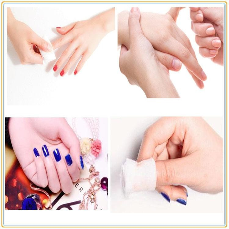 Competitive Price High Quality 10pcs Nail Polish Remover Wipes-non ...