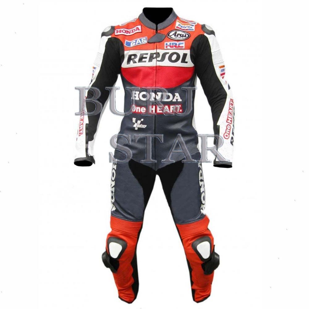 Honda Repsol Motorcycle Racing suit Leather Suit Motorbike leather suit Cowhide