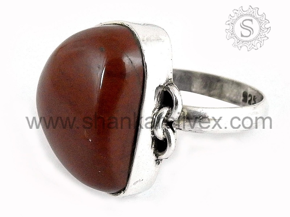 Awesome Color Of Red Jasper Gemstone 925 Silver Rin Indian Passion Beautiful Jewelry Wholesaler RNCB1562-15